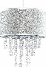 Silver Glitter Light Shade Clear Acrylic Jewel