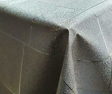 Silver Grey Checked Shimmer Wipe Clean Table Cloth