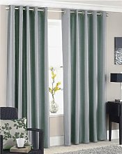 SILVER GREY FAUX SILK LINED CURTAINS WITH EYELET