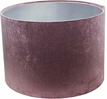 Silver Lined Glamour Mauve Velvet Drum Lampshade