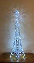 Silver Metal LED Crystal Jewel Diamante Encrusted