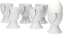 Silver Night Tableware - 6 egg mugs - Porcelain
