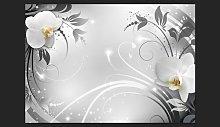 Silver Orchids 245cm x 350cm Wallpaper Brayden