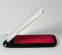 Silver Plated Shoe Horn and Lint Brush