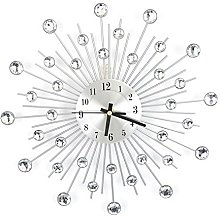 Silver Round Stylish Modern Wall Clock, Fashion