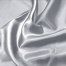 Silver Silky Satin Fabric by The Metre Material