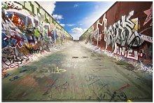 Silver Skate Graffiti 2.9m x 432cm Wallpaper Ebern
