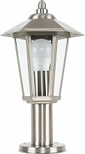 Silver Stainless Steel Outdoor Lamp Post Top Light