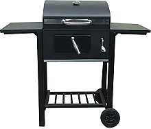 Silver & Stone Large Charcoal BBQ Grill With Lid,