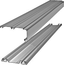 Silver Trackset for Sliding Wardrobe Doors - 106