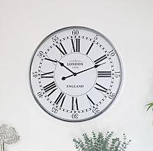 Silver Vintage London Wall Clock