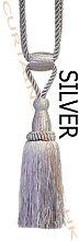 Silver - X2 Monaco Designer Tassel Rope Tie Back