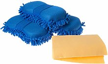 Silvergent Car Wash Cleaning Sponge Mitts 3 Pack,