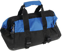 Silverline 268974 Tool Bag Hard Base Wide Mouth