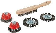 Silverline 589548 Wire Brush, Cup & Twist-Knot