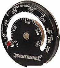 Silverline 735884 Magnetic Stove Thermometer,