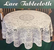 SIMACO NOTTINGHAM LACE WHITE STYLE FLORAL ROSES