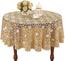 Simhomsen Beige Lace Tablecloth for Small Coffee