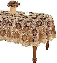 Simhomsen Vintage Burgundy Lace Tablecloth