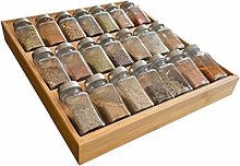 Simhoo Bamboo Spice rack In-Drawer Kitchen Cabinet