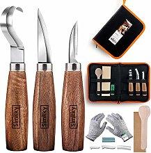 SIMILKY Wood Carving Tools Set Knife Kit 12 Set