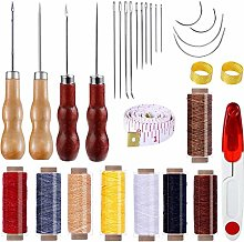 SIMIN 30 pcs Leather Waxed Thread,DIY Handicraft
