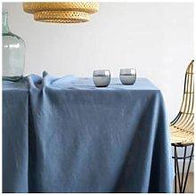 Simla - Table cover linen stoneware blue - 150X250