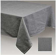 Simla - Table cover linen stoneware Dark grey -