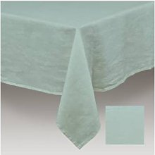 Simla - Table cover linen stoneware turquoise -