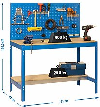 Simon Rack - Shelving Kit (Blue/Wood)