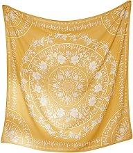 Simpkeely Sketched Floral Medallion Tapestry,