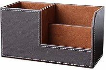 Simple and Stylish Desktop Storage Box PU Leather