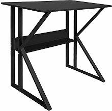 Simple Black Computer Desk with Stable Unique