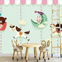 Simple Cartoon Animal Wallpaper Kids Room