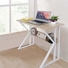 Simple Computer Desk with Stable Unique K-shaped