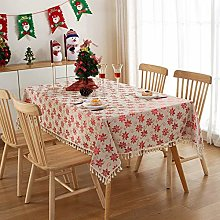 Simple Cotton And Linen Tablecloth Hot Stamping