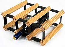Simple Creative Modern Solid Wood Rack, Wine Rack,