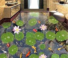 Simple Floor Murals Wallpaper 3D 3D Floor Flower