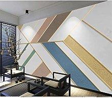 Simple Geometric Light Luxury Golden Embossed