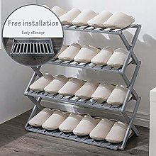 Simple Household Shoe Rack Gray Free Installation
