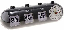 Simple Manual Flip Alarm Clock, Digital Quartz Day