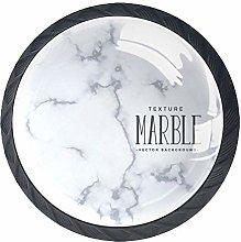 Simple Marble Pattern Crystal Door Knobs Glass