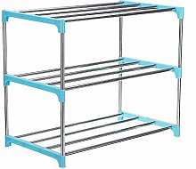 Simple Multi Layer Shoe Rack Stainless Steel Easy