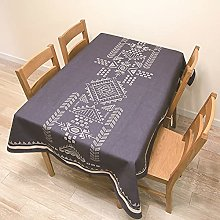 Simple Painted Geometric Tablecloth Thickened