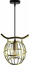 Simple Pendant Ceiling Light Metal Cage Shade