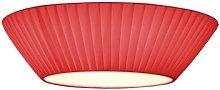 Simple red ceiling light Emma 50 cm