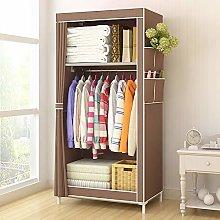 Simple Single Cloth Wardrobe Lockable Canvas