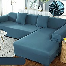 Simple Solid Color Polyester Sofa Cover,