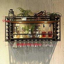 Simple Style Iron Hanging Wine Glass Rack, Iron