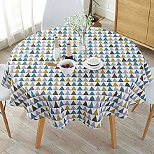 Simple Tassel Tablecloth Round, Oil-Free Stain